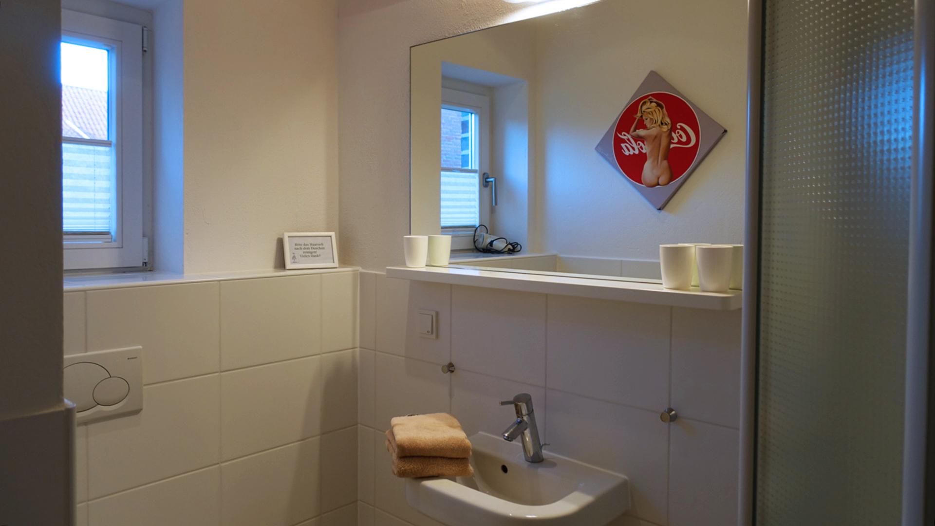 Im Badezimmer vom Haus auf der Höhe Twee