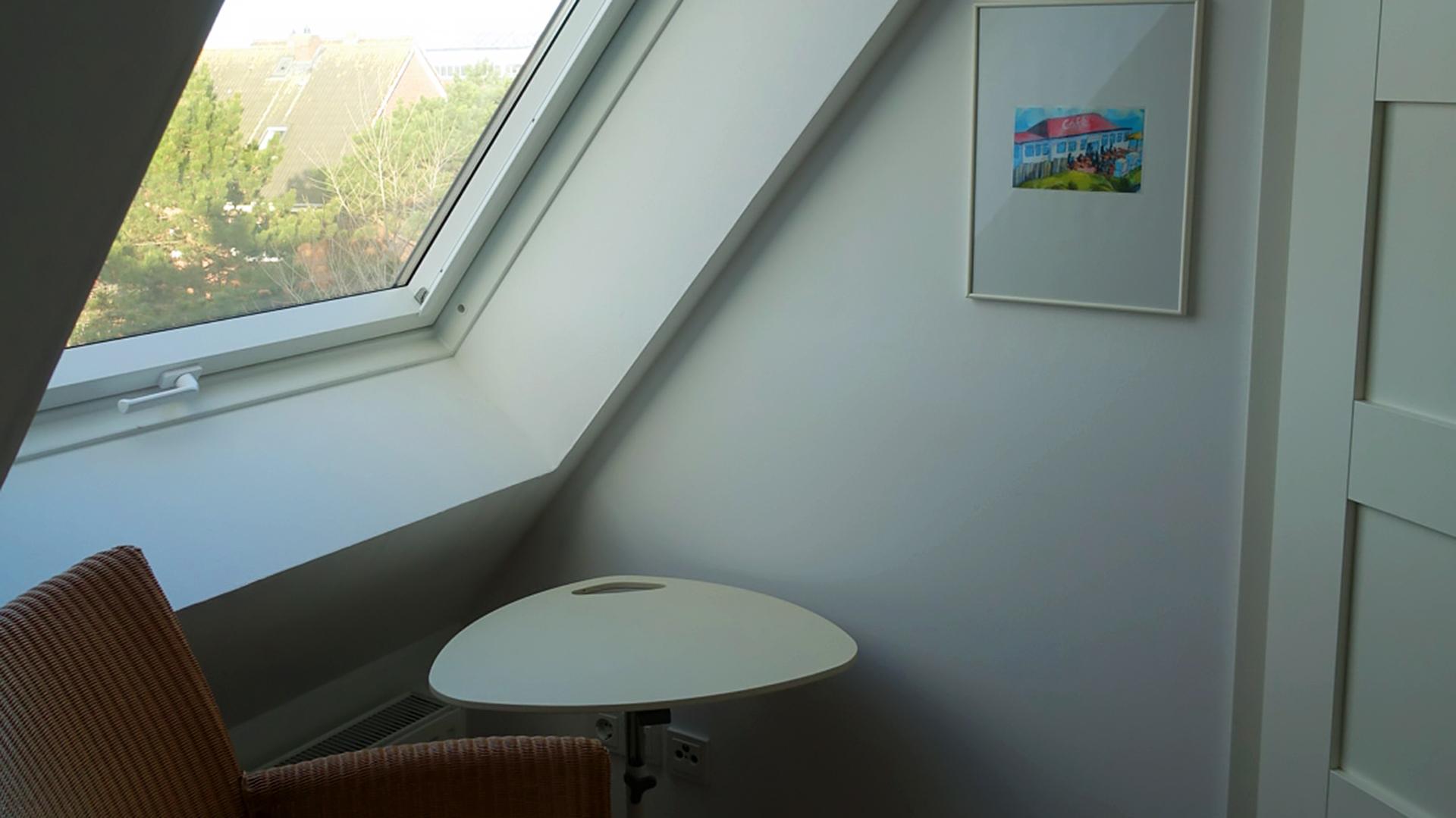 Im Dachgeschoss vom Haus auf der Höhe Twee