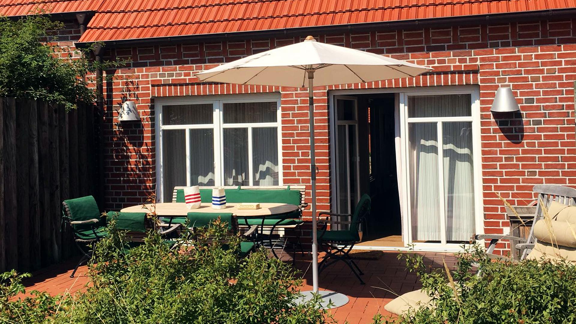 Die Terrasse vom Haus auf der Höhe Twee